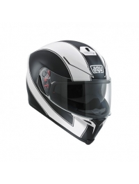 CASCO AGV K5 MULTI ENLACE BLANCO-NEGRO MATE