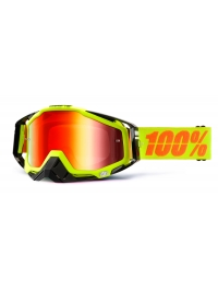 GAFAS 100% THE RACECRAFT NEON SIGN RED LENS