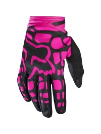 GUANTE FOX DIRTPAW MUJER NEGRO-ROSA