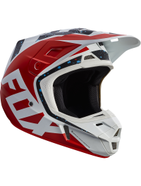 CASCO FOX V2 NIRV ROJO-BLANCO