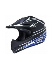 CASCO CROSS HX CANNON AZUL -A