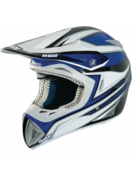 CASCO CROSS FIBRA NOX CHARGER AZUL