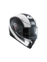 CASCO AGV K5 S ENLACE NEGRO-BLANCO MATE