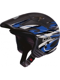 CASCO NZI TRIAL CARBONO AZUL