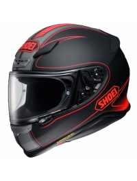 CASCO SHOEI NXR FLAGGER NEGRO/ROJO