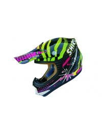 CASCO INFANTIL SHIRO MX-306 ROCK KID VERDE