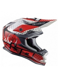 CASCO CROSS HEBO QUAKE ROJO