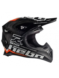 CASCO HEBO MX RAPTOR CARBON NEGRO/ROJO