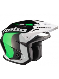 CASCO HEBO ZONE 5 LIKE VERDE/BLANCO/NEGRO